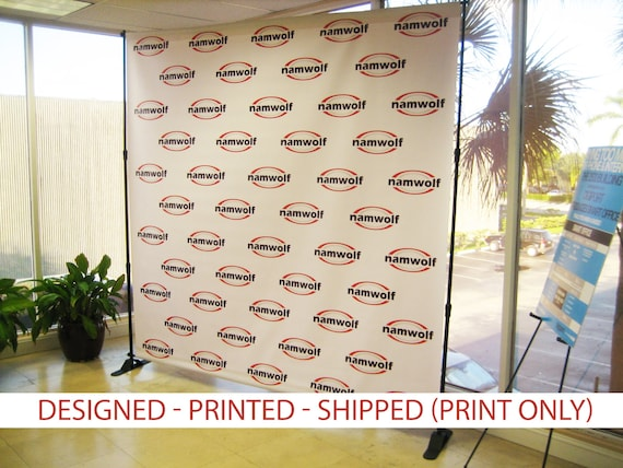 Step And Repeat Backdrop Banner 8x8 PRINT ONLY Wedding