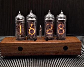 Nixie Clock IN-14 [4-Tube] *Natural wood*