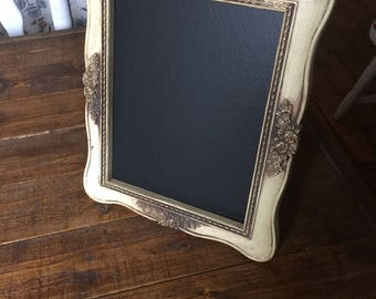 Cream distressed free standing chalkboard menu table menu old menu