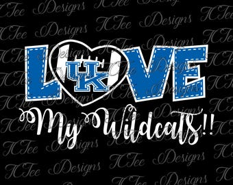 Love My Kentucky Wildcats - College Football SVG File - Vector Design Download - Cut File