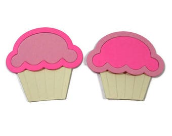 3 Piece Cupcake Die Cuts Set of 30 (10 of each piece)