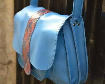 """Hobo, """"First"""" true blue leather and braided"""