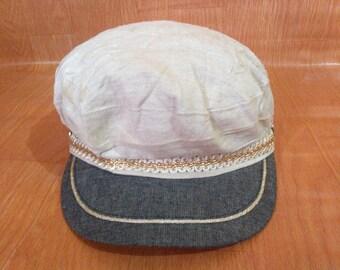 Free Shipping Vintage Anchor Cap Hat Vintage Sailor Cap Hat