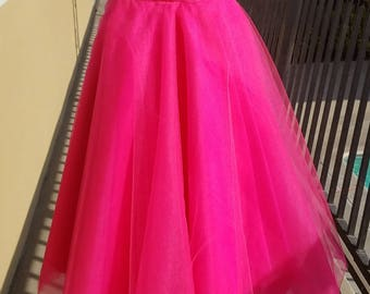 Tulle and satin ribbon skirt.