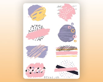 Abstract stickers • Minimal stickers • Stroke stickers • Decorative stickers • Bullet Journal stickers • Planner stickers