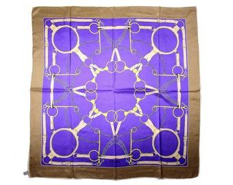 Authentic CELINE Scarf 100% Silk Equestrian Motif