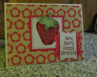 Strawberry Birthday Card