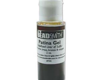 Cool Tools Patina Gel - Liver of Sulfur in Gel Form - 2 oz - Oxidization Gel - SKU: 501026