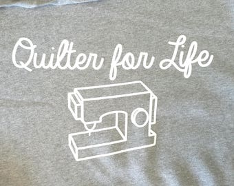 Quilter for Life Sweatshirt with Hood Extra Large XL