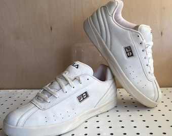 Vintage 90s FILA Ivory Leather Sneaker