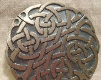 Pewtercraft Pin -Celtic Knotwork  Design Pin -