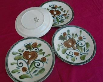 """Set of 4 dinner plates - Boch - collection """"Signed"""""""