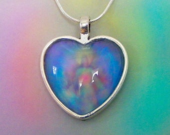 Jesus Loves You!  Energy Pendant with the Energy of Peace and Healing 25x25mm Antique Silver Setting