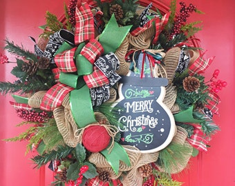 Rustic snowman wreath Rustic burlap wreath Snowman wreath Christmas wreath Rustic Christmas wreath