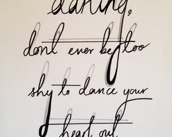 Calligraphy mini poster - Audrey Hepburn quote