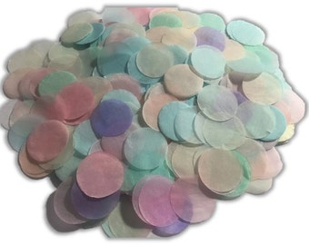 Pastel Coloured Tissue Paper Confetti - 1 inch Circles - Wedding, Baby Shower, Parties, Invitations
