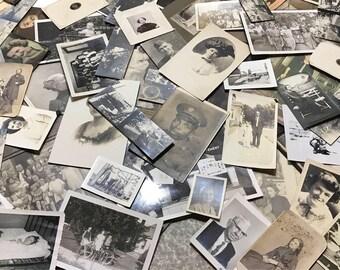 Lot of ten random antique/vintage photos