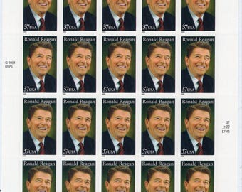 President Ronald Reagan (20) Mint-Unused- Scott #3897 Full Sheet