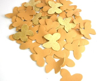 crafts genuine leather applique for accessories decorations jewelry bags decorative art diy kids butterfly yellow 50 pcs ebooba 7-1-4-U-Y