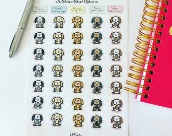 Inu planner stickers. Dog calendar stickers. Inu Notebook stickers. Kazuki inu sticker. Manabu inu sticker. Kouta inu sticker. Kids stickers