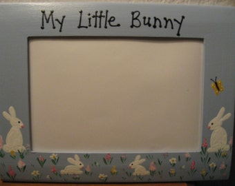 Happy Easter frame My little bunny custom family picture photo frame