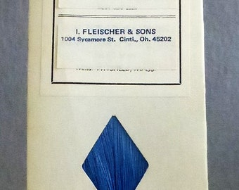 Vintage Mid Century Waxed Thread for Hand Sewing from I. Fleischer 675 Yards Blue Color
