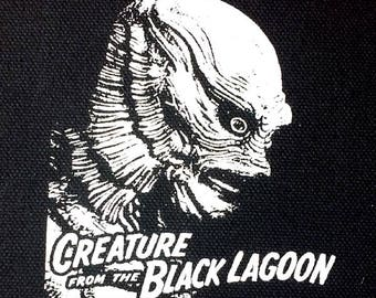 Creature from the Black Lagoon PATCH canvas screen print HORROR - Universal Monsters