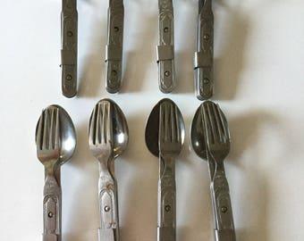 Military Mess Kit Knife Spoon Fork Set Camping Mess Kit