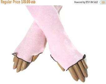 ON SALE Arm Warmers, Fingerless, Gloves, Pink Fleece Hand Warmers Wrist Warmers Gift For Her, Handmade Harry Potter, Christmas, Gift Women,