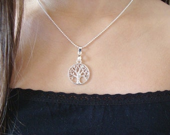 Sterling silver Tree of life Necklace, Tree of life Necklace, Tree of life Necklaces, 925 sterling silver necklace, sterling silver necklace