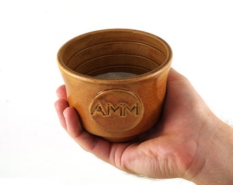 Shaving Bowl Personalized with Initials  Made to Order in 6 to 8 weeks Fathers Day Gift for Dad