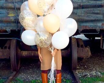 Balloon Bouquet | Gold Confetti Balloons | Wedding balloons