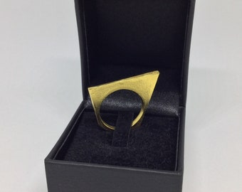 Geometric Ring, Gold Plated