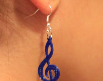 Pendant Earrings with Treble Clef
