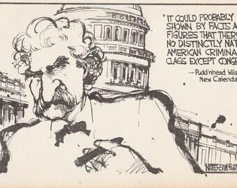 Mark Twain Vintage Postcard, Twain Wit, from Pudd'nhead Wilson's New Calendar