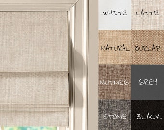 FABRIC SWATCHES for complete custom roman shade in linen look