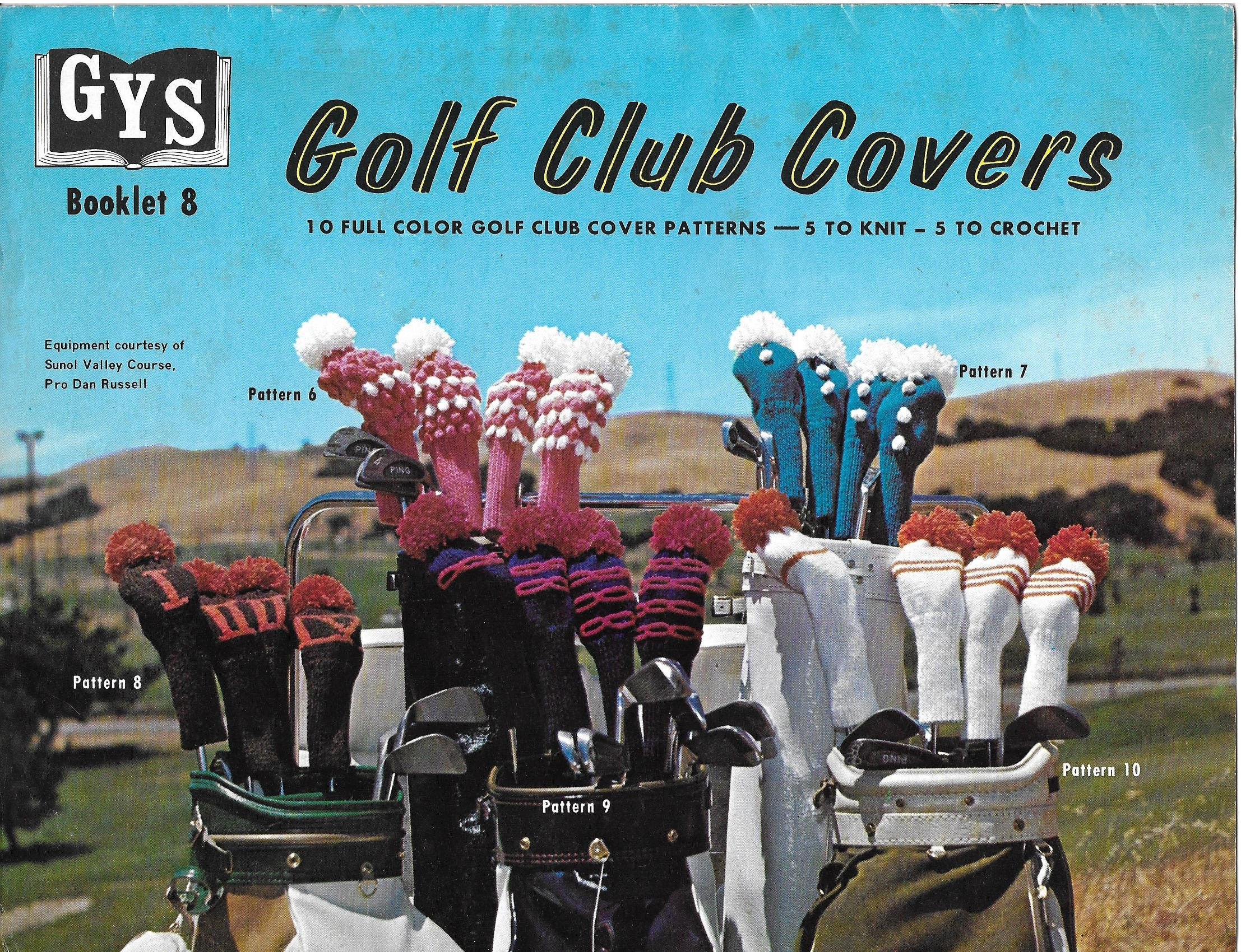 Vintage Golf Club Covers Knit and Crochet Patterns 5 to Knit 5 to ...