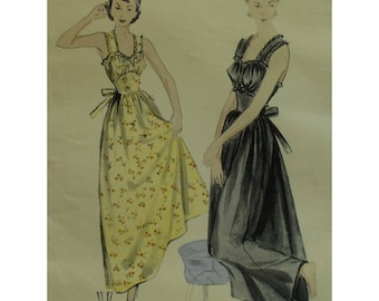"""1940s Glamorous Night Gown Pattern, Gathered Bust, Gathered Skirt, Wide Straps, Fitted Midriff, Lace Trim, Butterick 5089 Bust 32"""" (81cm)"""