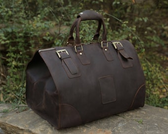 Leather Duffle Bag, mens, womens, travel, luggage, carry on, overnight, weekender, unisex, genuine, carryon, handmade, suitcase