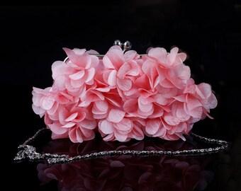 Bridal Clutch Petal Clutch Bridesmaid Bag Flower Pouch Bag
