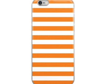 Orange Stripes iPhone Case