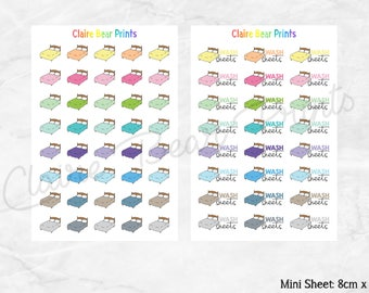 BEDS & WASH SHEETS Planner Stickers (2 options)