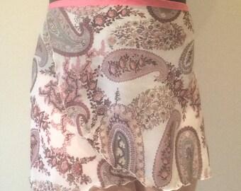 Adult Chiffon Ballet Wrap Skirt - Paisley Print