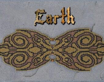Pattern for Elemental Earth Peyote Bracelet