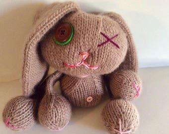 Super soft hand knit bunny