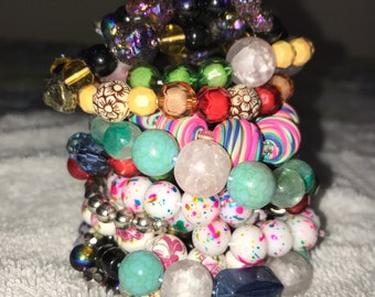 Beaded Bracelets with Color