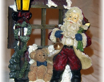 Santa at the Window Picture Frame