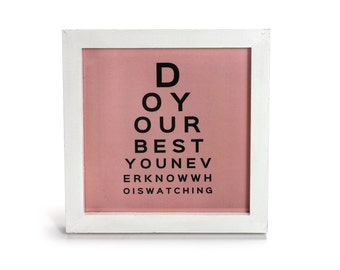Do your Best Typography - Office Print and Frame