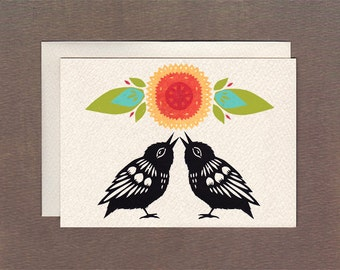 Birdsong Duo - Notecard