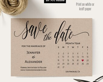 downloadable save the date templates